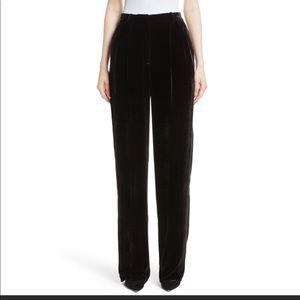 Theory high waisted black velvet pants